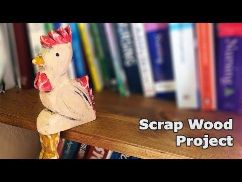 Scrap Wood Chicken Ornament
