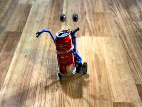 Tin can robot in action