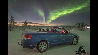 Aurora chasing in a convertible (real time)!