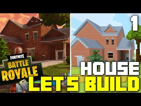 Minecraft: Let's Build a Fortnite House! (Part 1)