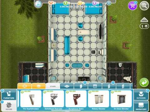 How to get a second floor on Sims freeplay