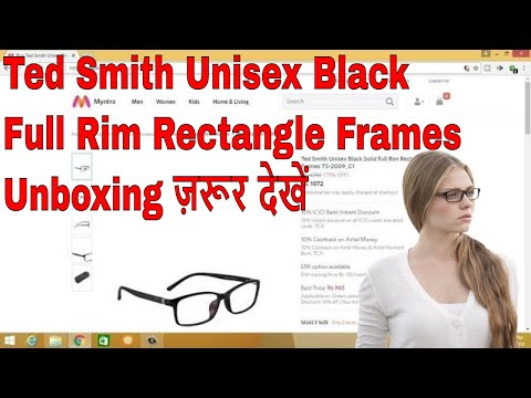 Ted Smith Black Spectacle Frames Unboxing