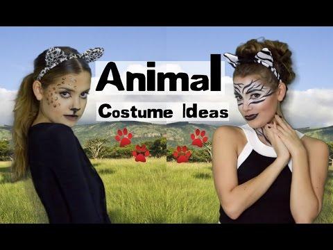 Easy Animal Costume Makeup/Hair | Leopard, Lion & Zebra