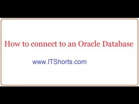 How to log in to an Oracle Database - Answer Video - Database Tutorials 42