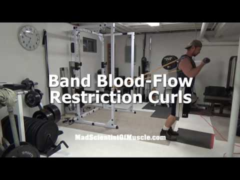 Build Bigger Biceps With Band Blood-Flow Restriction Training Curls (Occlusion Training)