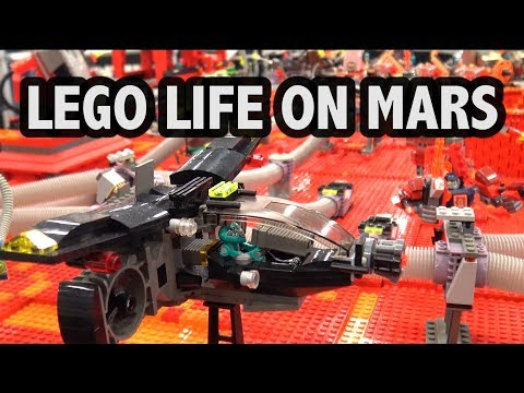 Huge LEGO Life on Mars Space Planet | Brickworld Indy 2018