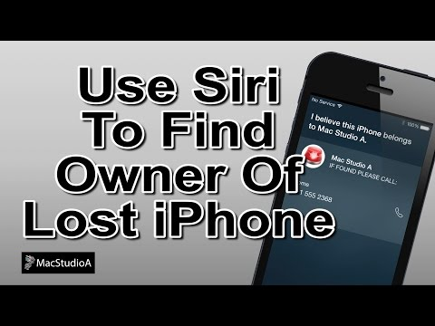 Use Siri To Find Owner Of Lost iPhone