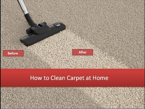 How to Clean Carpet at Home - 4 Carpet Cleaning Secrets