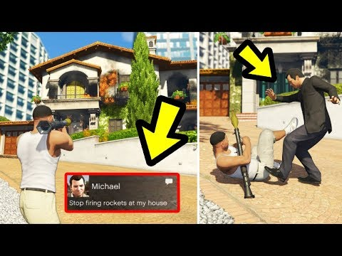 What happens if you Destroy Michael's House in front of Michael? (GTA 5)