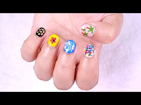 5 Easy Beginners Nail Art Designs for Short Nails || NO Tools Needed