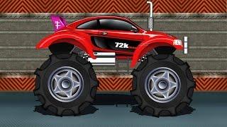 Monster Truck   Sports Car Monster Truck   Kids Car Race