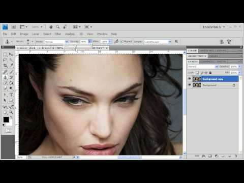 2.9 Removing Dark Under-Eye Circles: Adobe Photoshop CS4 video