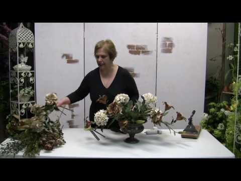 How To Make A Traditional Floral Centerpiece Arrangement With Silk Flowers - Part 2