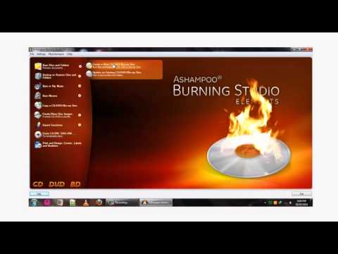 Burning DVD files to a DVD media using Ashampoo