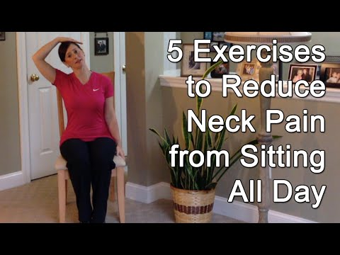 5 Exercises to Reduce Neck Pain from Sitting All Day