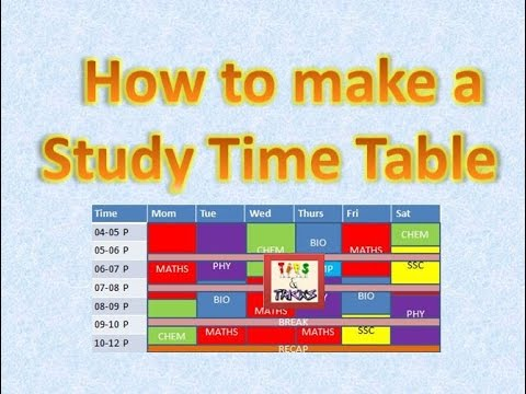 How to make a study TimeTable. Time Table कैसे बनाये | (Hindi)