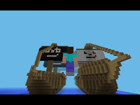 Minecraft PE Let´s Build a Pirate ship 2014