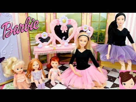 Elsa Anna Toddlers take  Ballet Lesson with Barbie Ballerina  - 12 Dancing Princesses Dance Studio