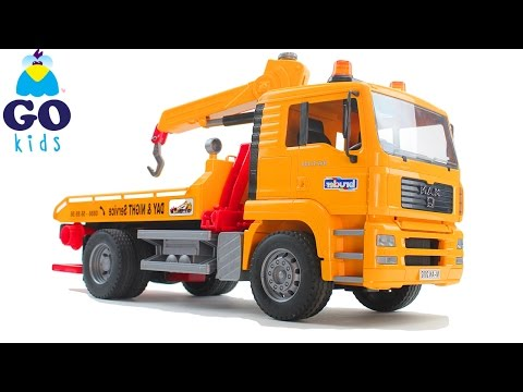 Row, Row, Row Your Boat - Toy Tow Truck - Nursery Rhyme Trucks - GoKids