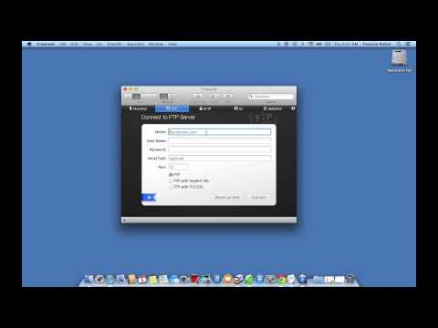 Mac OSX: How to connect to a website FTP server