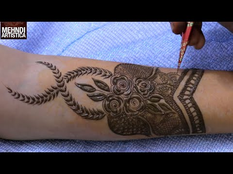Intricate Full Hand Mehndi Design Tutorial | Learn To Apply Henna Mehendi Very Easily with Few Steps