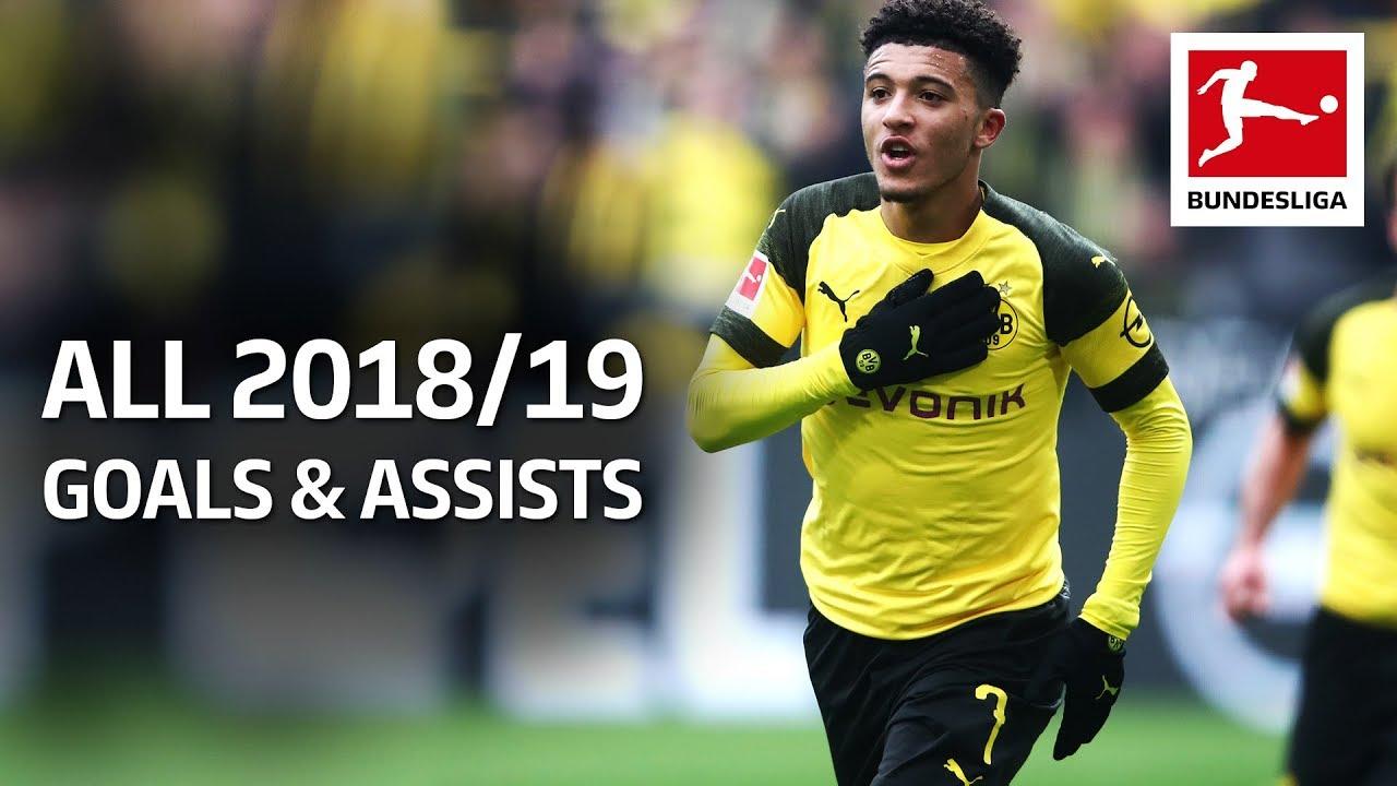 Jadon Sancho - All Goals and Assists 2018/19