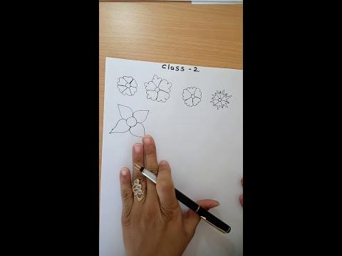 How to draw mehandi in hindi - class 2 - RichaGandhi.in