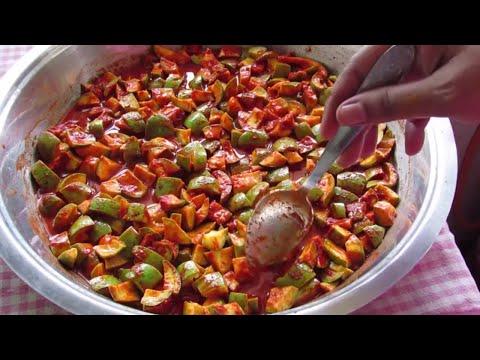 Sun Dried Mango Pickle - How To Sun Dry Raw Mangoes-Dehydrating Mangoes- Kerala Recipes | Nisa Homey