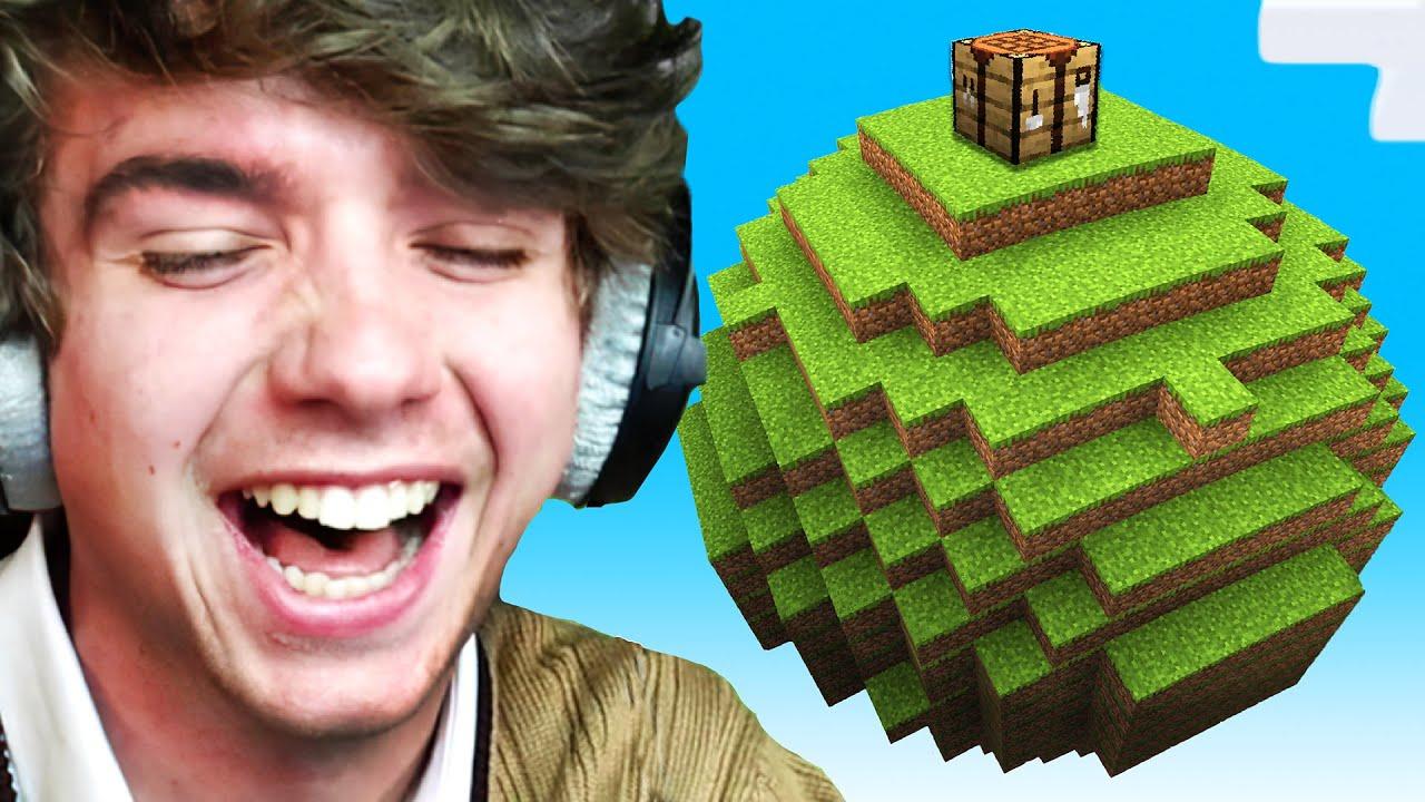 Minecraft, But The World is Round!