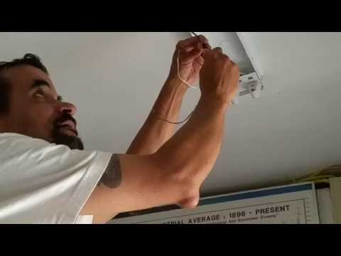 8 foot fluorecent lights changed to T8 LED installation how to do