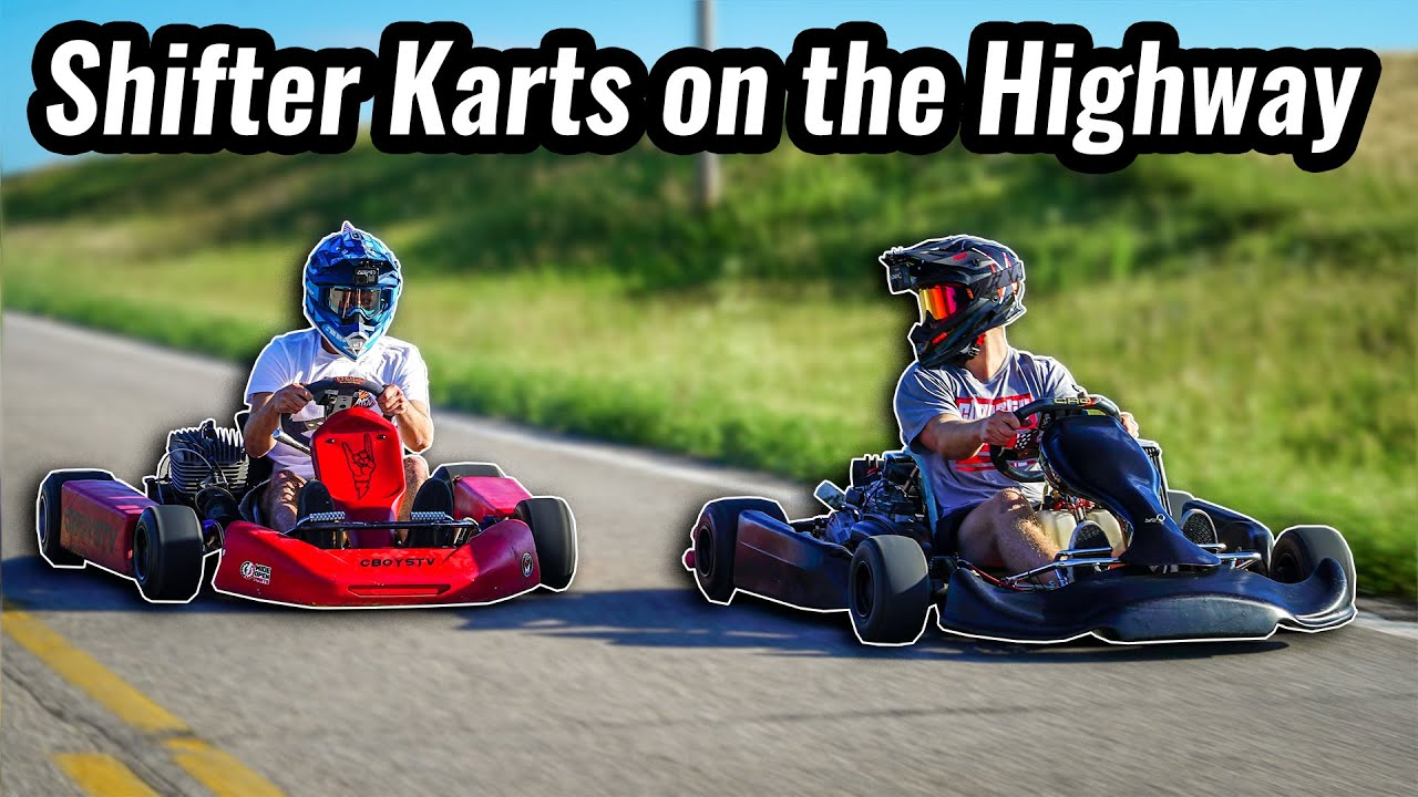 Racing shifter karts around town!!