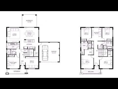 4 Bedroom 3 Bathroom 2 Story House Plans