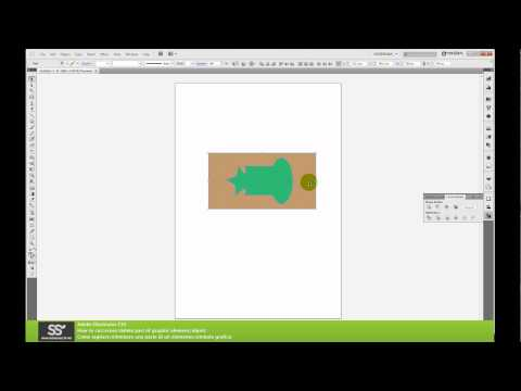 How to cut/delete, union/join, mask object in Adobe Illustrator CS5