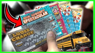 SCHOOL BUS DRIVER WINS MONEY ON LOTTERY TICKETS FROM STUDENTS!!