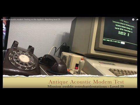 Testing an antique acoustic coupler modem for the Apple II with a dial up BBS
