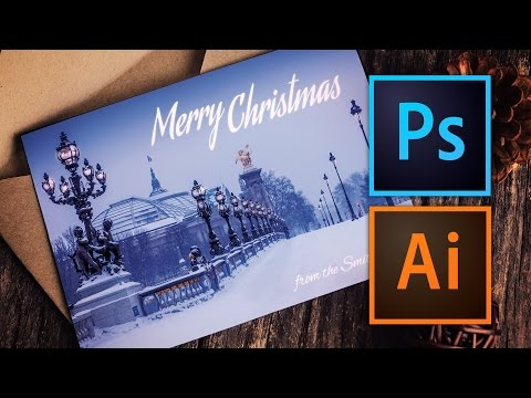 How to Make a Christmas Card with Photoshop or Illustrator
