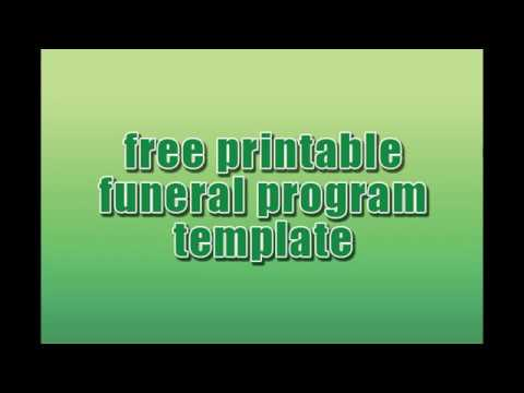 Free Printable Funeral Program Template Download