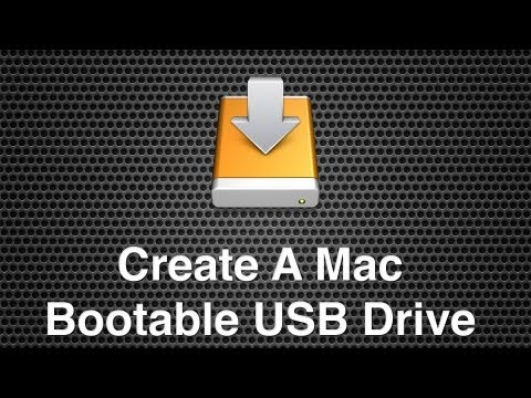 Create A Bootable Recoverable USB Stick For Mac OS X