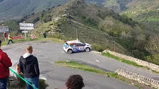 Rallye Lozère 2018 et crash ds3 R5 a la fin