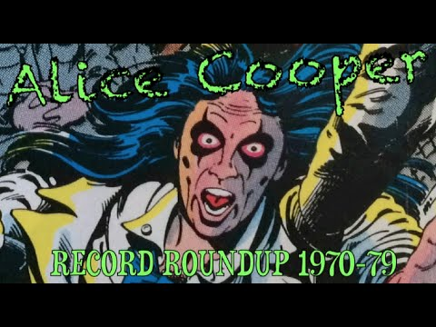 ALICE COOPER 1970-79 complete vinyl record collection (School's Out, Billion Dollars Babies + MORE)
