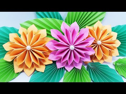 How To Make Flower Bouquet With Color Paper At Home | DIY Paper Flowers Step by Step