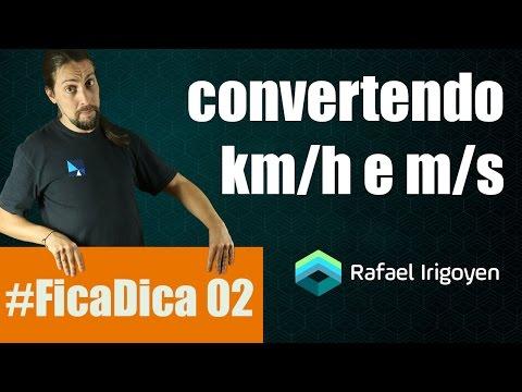 #FicaDica 02 Física: convertendo km/h para m/s - Prof Rafael Irigoyen
