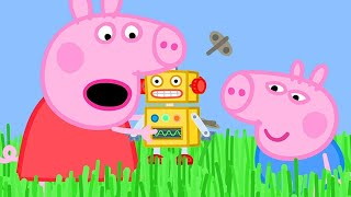 Peppa Pig English Episodes |Long Grass is Stopping Peppa Pig's Robot from Walking