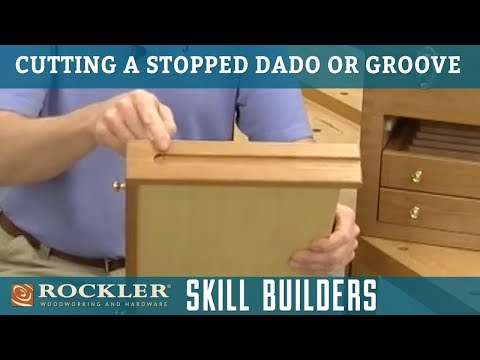 How to Make a Stopped Dado or Groove Cut with Router Table | Rockler Skill Builders