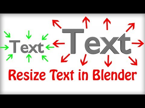 How to Resize Text in Blender - Make Text Bigger or Smaller in Blender (Quick Tip Tutorial)