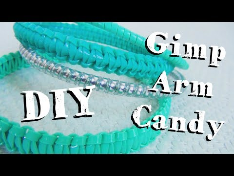 Gimp Arm Candy ♥ DIY Bracelets With Boondoggle Plastic Lace