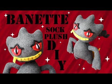 ❤ DIY Banette Sock Plush! How To Make A Cute Pokemon Plushie! ❤