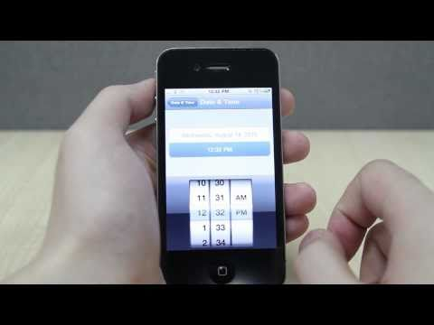 How to Set the Date and Time on Apple iPhone 4