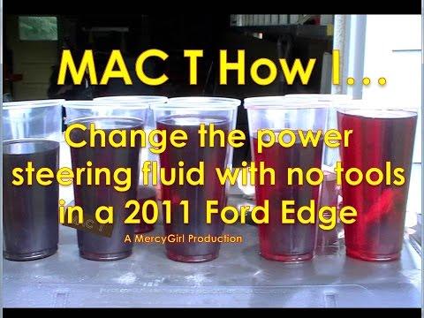 2011 Ford Edge power steering flush and maintenance