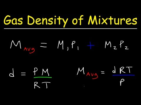 Gas Density & Average Molar Mass of a Gaseous Mixture, Mole Fraction & Partial Pressure
